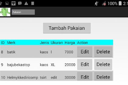 CRUD Android Dengan JSON dan MySQL