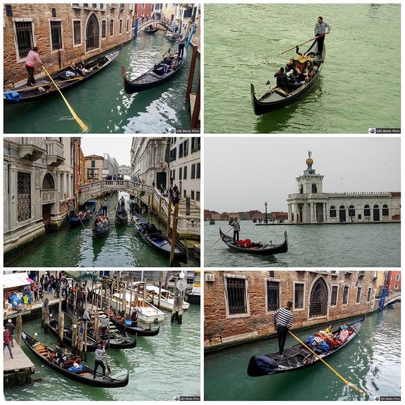 Gôndolas nos canais de Veneza - Diário de Bordo - 1 dia em Veneza