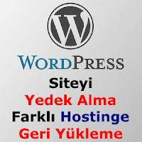 WordPress Site Yedek Alma Geri Yükleme