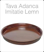 tava rotunda cu margini inalte pentru servire imitatie lemn, pret tavi profesionale. www.amenajarihoreca.ro