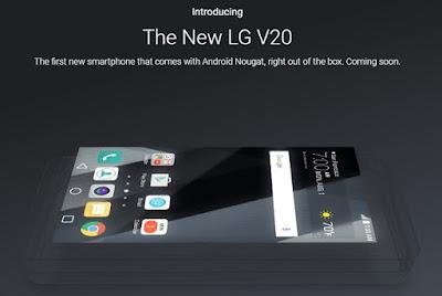 Harga dan Spesifikasi HP LG V20 Android Nougat Terbaru 2016