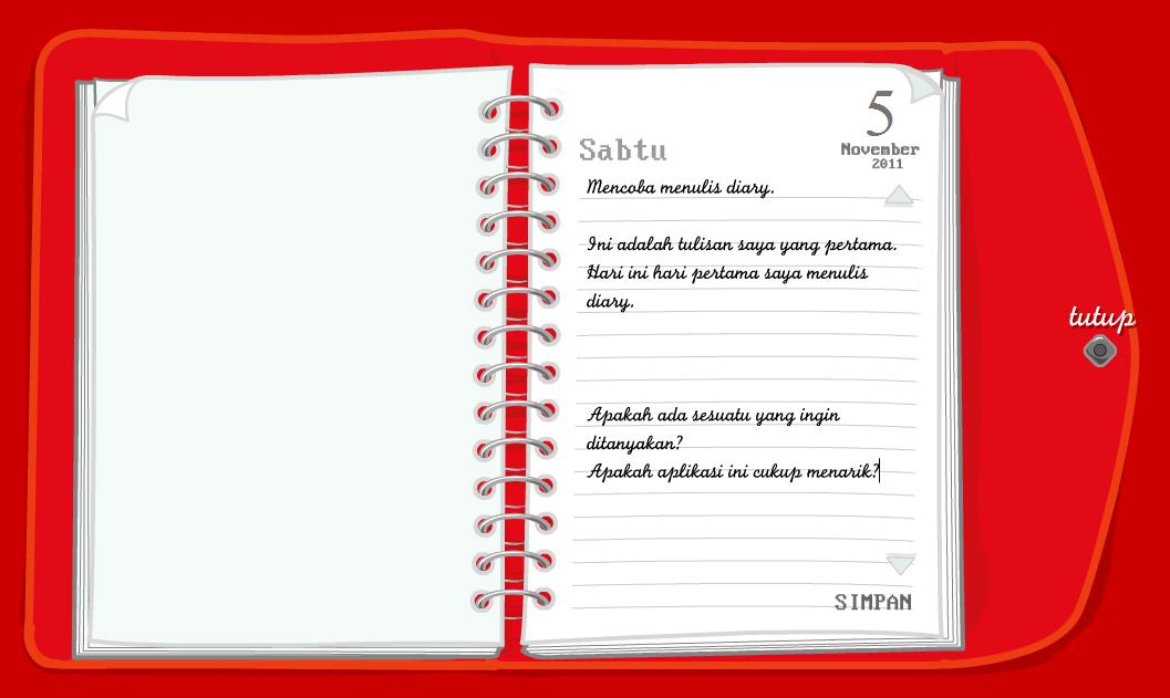 Contoh Diary Wbxpress Community Contoh Membuat Buku Harian Sabadi Sayapku Blog