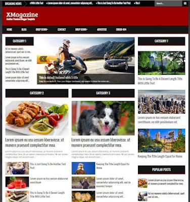 XMagazine - Responsive Magazine News Blogger Template