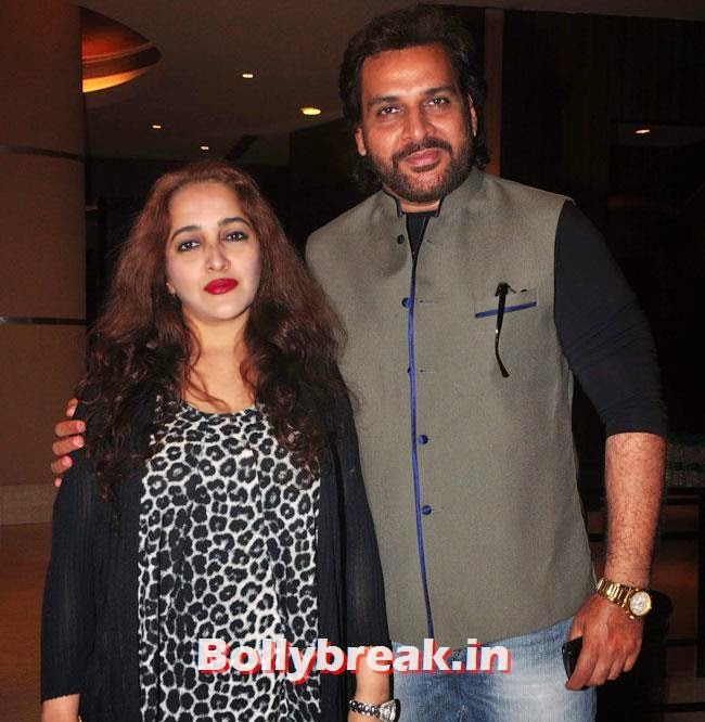 Shahbaz Khan with his wife, Sasha Agha, Alka Verma at Movie 'Unforgettable' First Look Launch