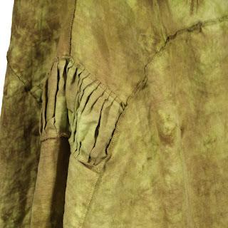 detail, earthenware dress