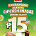 Mang Inasal's Pambansang Araw ng Chicken Inasal Means P15 off on select Chicken Paborito Value meals this January 26!