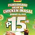 Mang Inasal's Pambansang Araw ng Chicken Inasal Means P15 off on select Chicken Paborito Value meals this January 26!