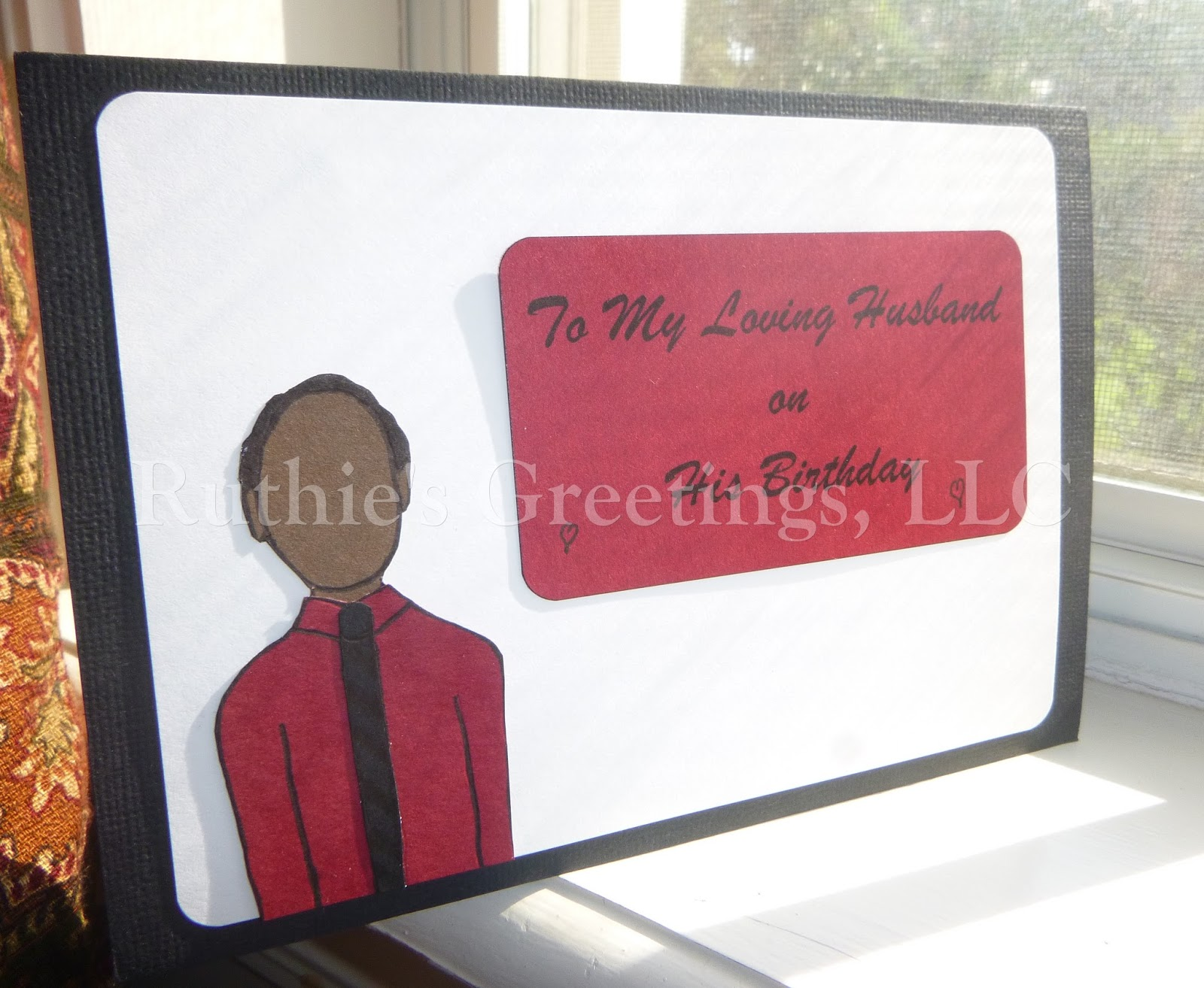 New African American Husband Birthday Cards