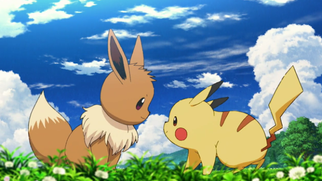 Pokémon the Movie Power of Us Pikachu Eevee together Let's Go