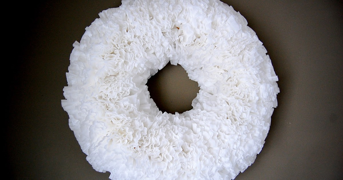 Miss Hannah B.: ~Coffee Filter Wreath~