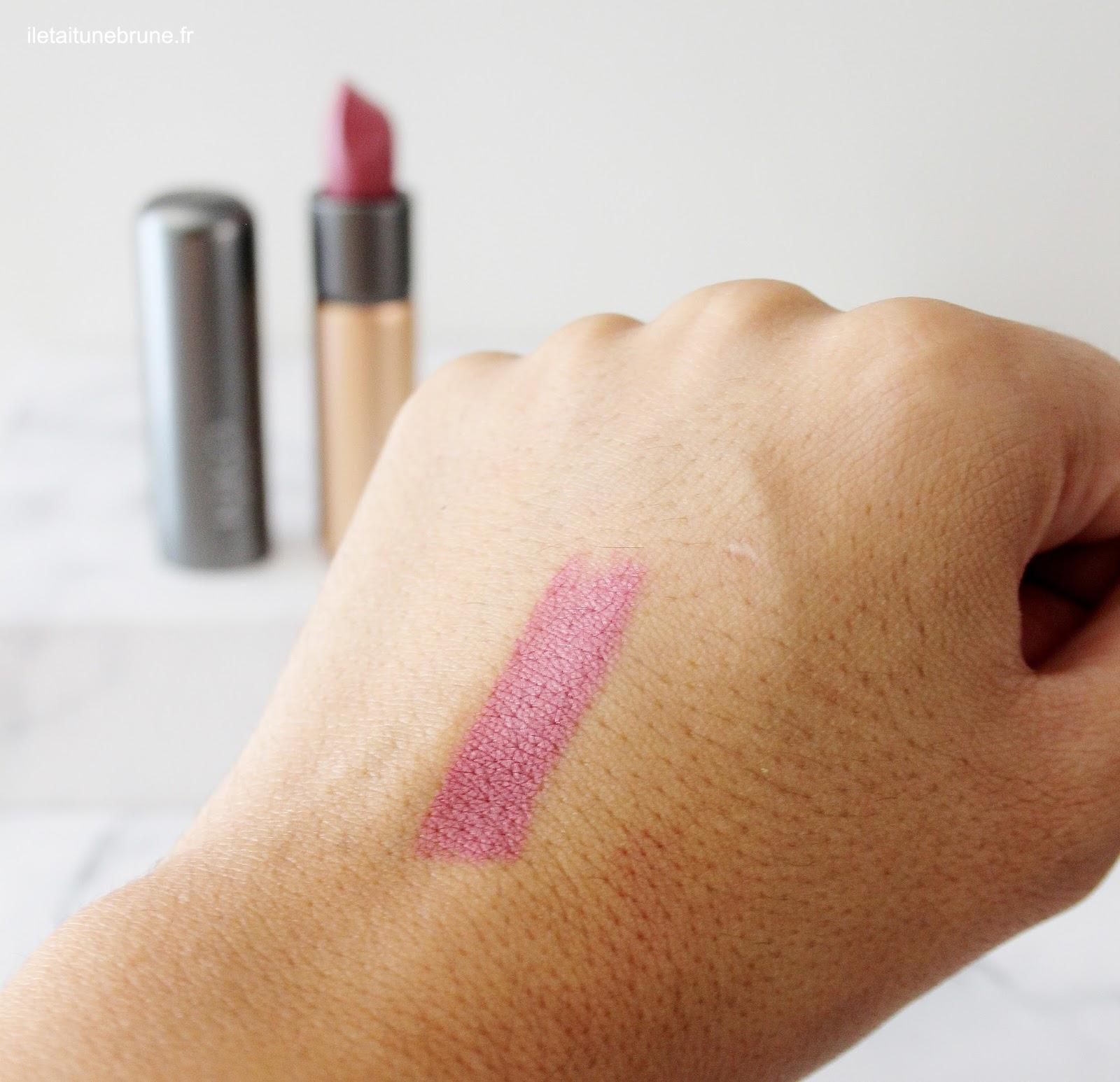 swatch du velvet passion matte lipstick mauve