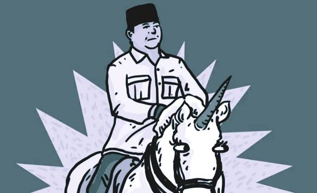 Ingin Jebak Prabowo soal Unicorn, Capres 01 Gagal Total