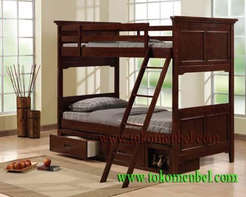 model tempat tidur susun dari kayu 2