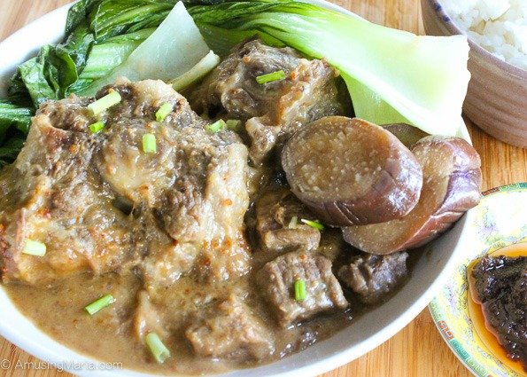 a filipino dish called kare kare 2 essay This is a traditional kare kare recipe, which is a filipino stew complimented with a thick savory peanut sauce  3 lbs oxtail (cut in 2.