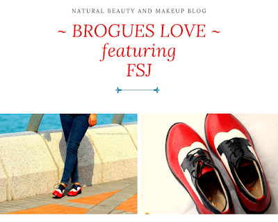 Review of FSJ shoes women's oxford patch-color flat lace-up comfortable vintage shoes brogues on NBAM blog