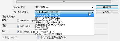 photoshop elements ファイル形式