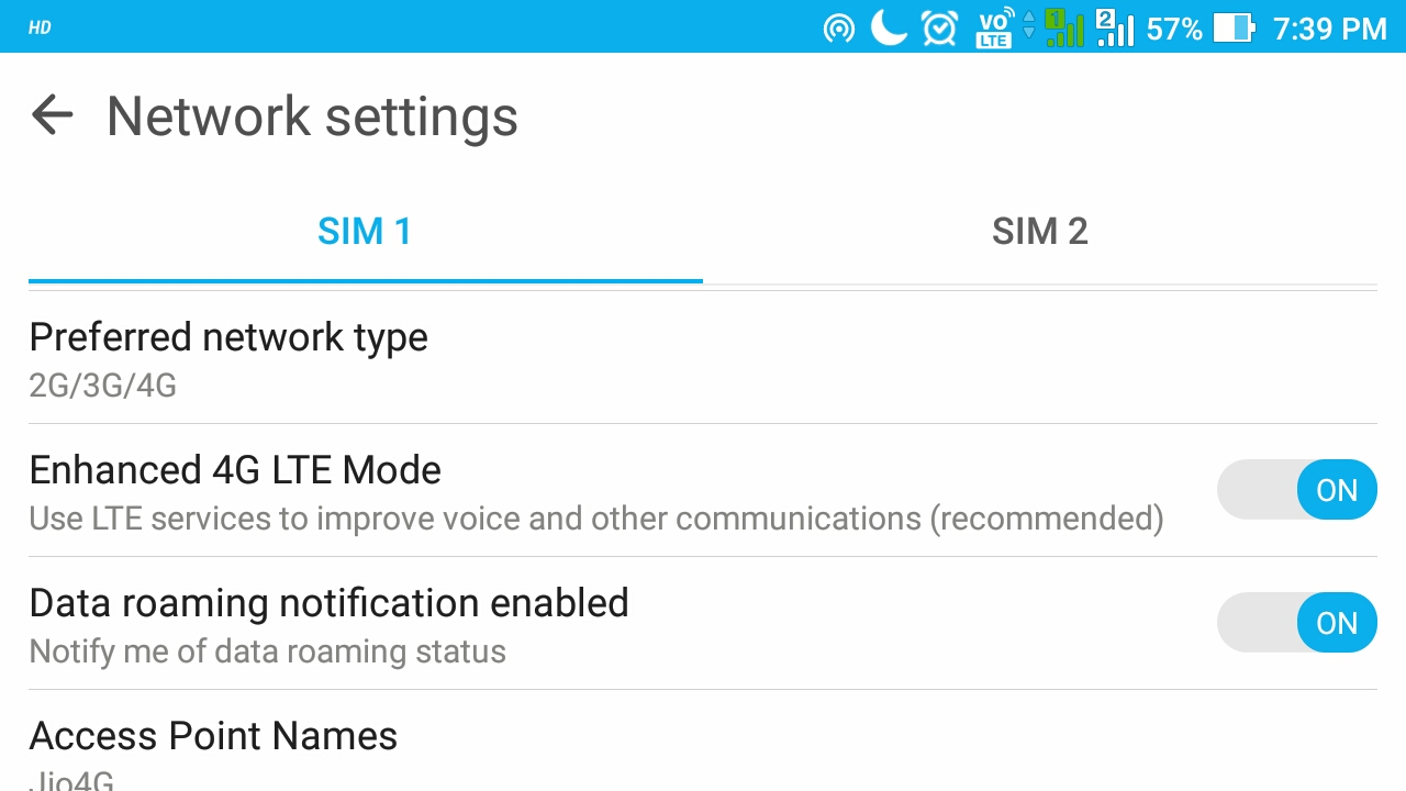 VoLTE in ASUS ZOOLD - ANDROID !NFO