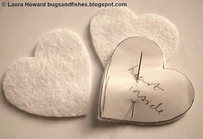 ornament1a - Enfeite coração e estrela de feltro