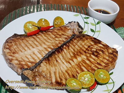 Grilled Blue Marlin Steak, Inihaw na Malasugi