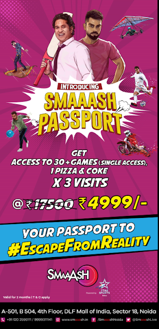 Get your passport ready for an enthralling journey at SMAAASH, Noida