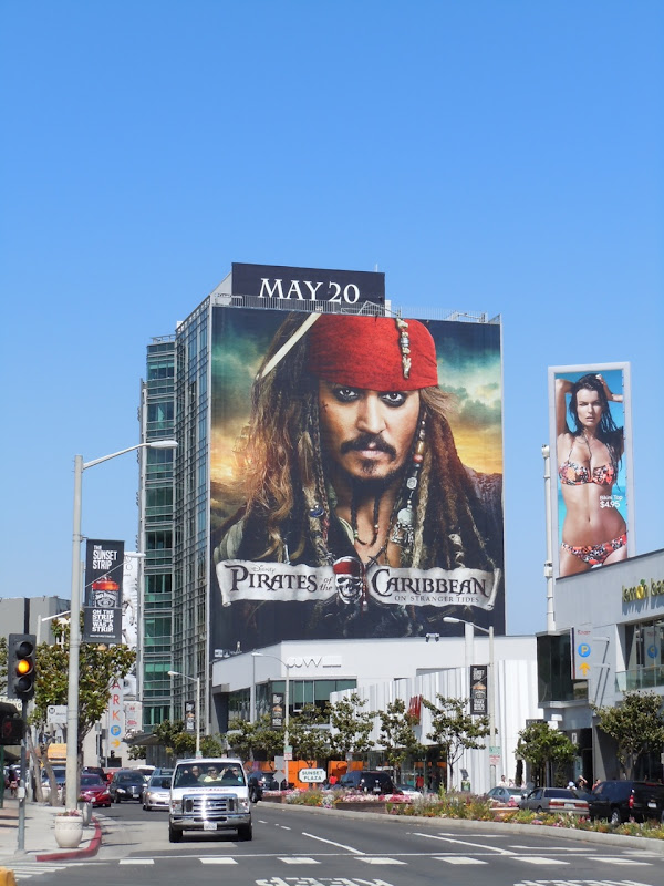 Johnny Depp Jack Sparrow Billboard Sunset Strip