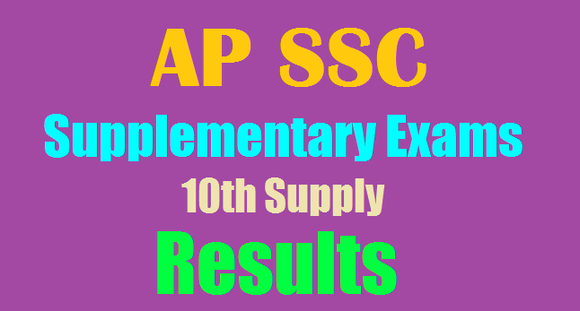 AP SSC/10th Class Supplementary Results 2018 Manabadi 10th