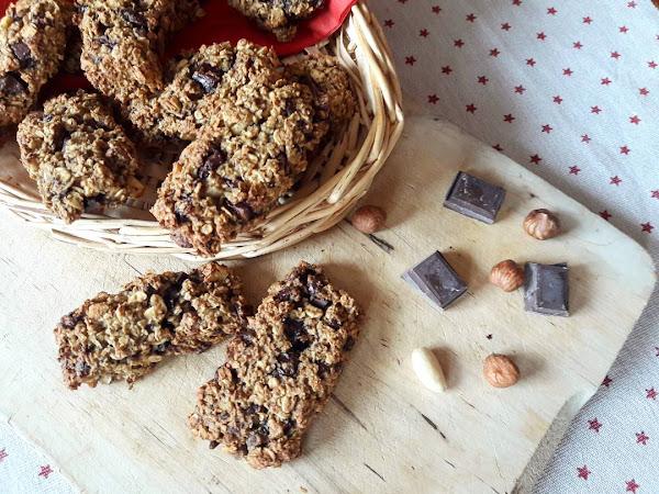 Barres de céréales healthy maison aux pépites de chocolat