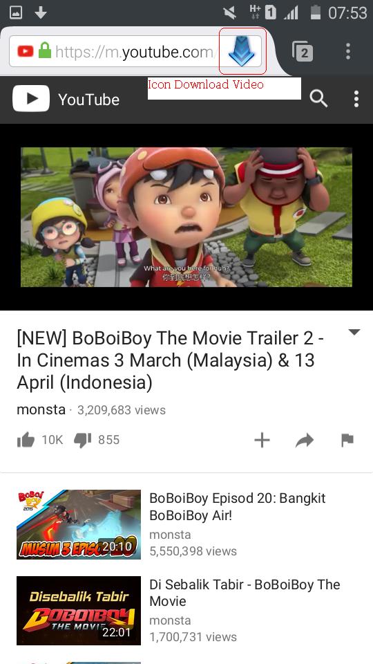 pilih video