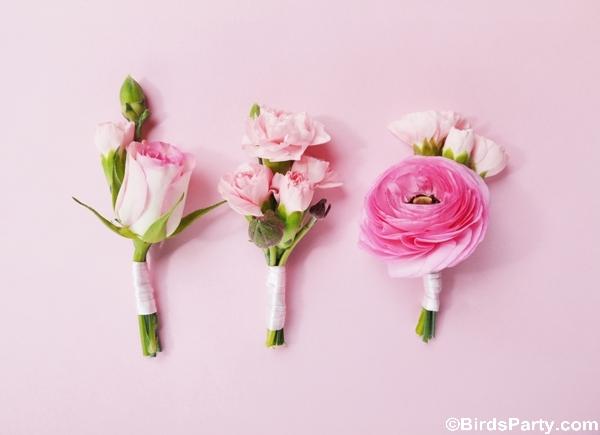 Idées de Mariage DIY Romantique en Rose | BirdsParty.fr