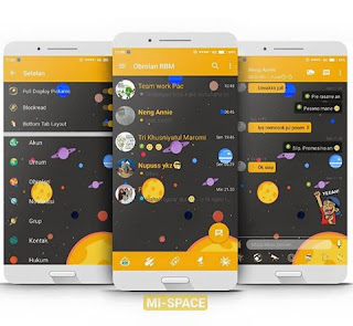 BBM MOD MI-Space v3.3.0.16 APK for Android
