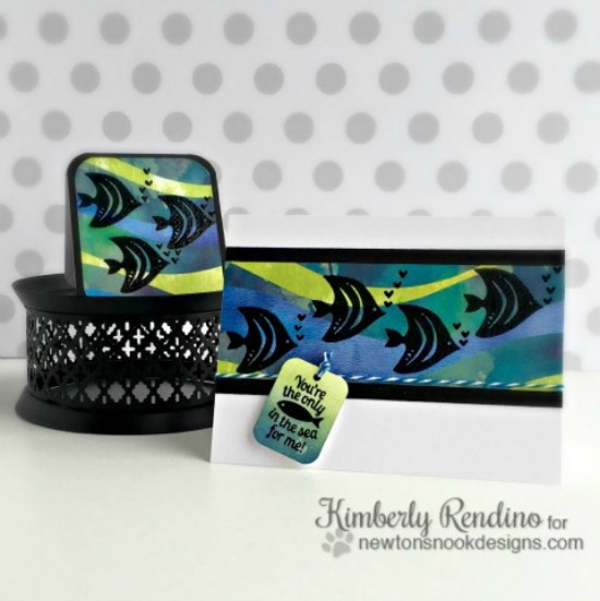 Kimberly Rendino | Tranquil Tides stamp set by Newton's Nook Designs #newtonsnook