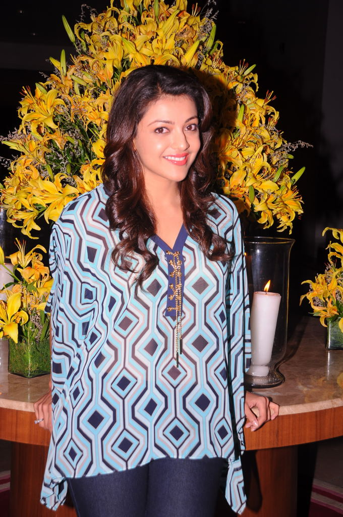 Cute and sweet Kajal agarwal photos at big green ganesha event