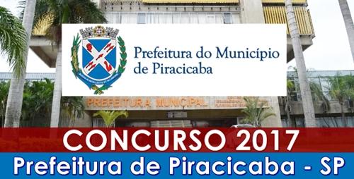 Apostila concurso Prefeitura de Piracicaba  2017