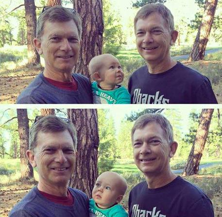 baby confused by twin dad