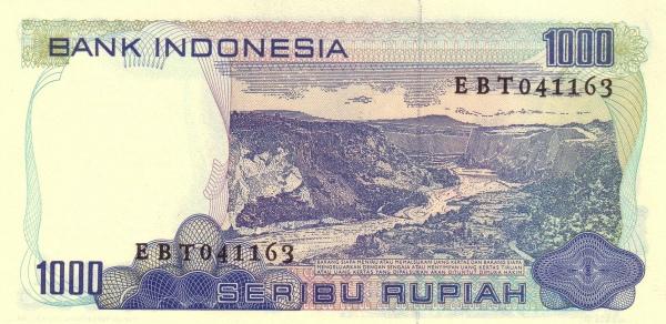 seribu rupiah 1980 belakang