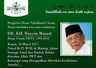 KH. Hasyim Muzadi Kembali ke Rahmatullah