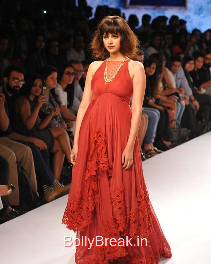 Aditi Rao Hydari, Aditi Rao Hydari in red Dress, Lakme Fashion Week 2015