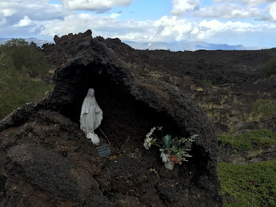 Madonna of the Lava. There is always a little shrine somewhere along the trail, you only need look.