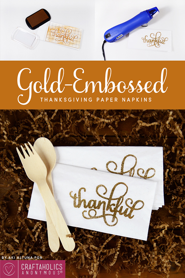 gold embossed stamp silhouette stamping material