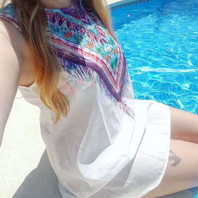 Top Ali Express Buys white beach dress at the pool