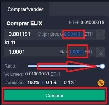 comprar ELIXIR criptomoneda en KuCoin