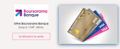 Gagnez 130 € pour l'ouverture d'un compte Boursorama Banque via un parrain