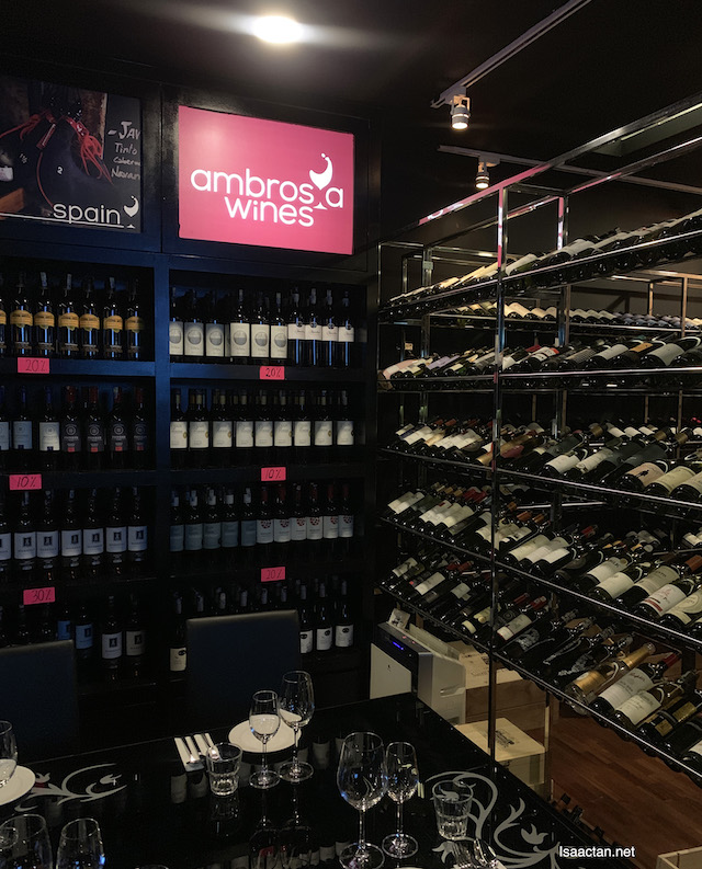 Wide selection of wines and liquor!