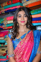 Puja Hegde looks stunning in Red saree at launch of Anutex shopping mall ~ Celebrities Galleries 079.JPG
