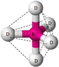 Bentuk molekul ED5, trigonal bipiramida, segitiga bipiramida