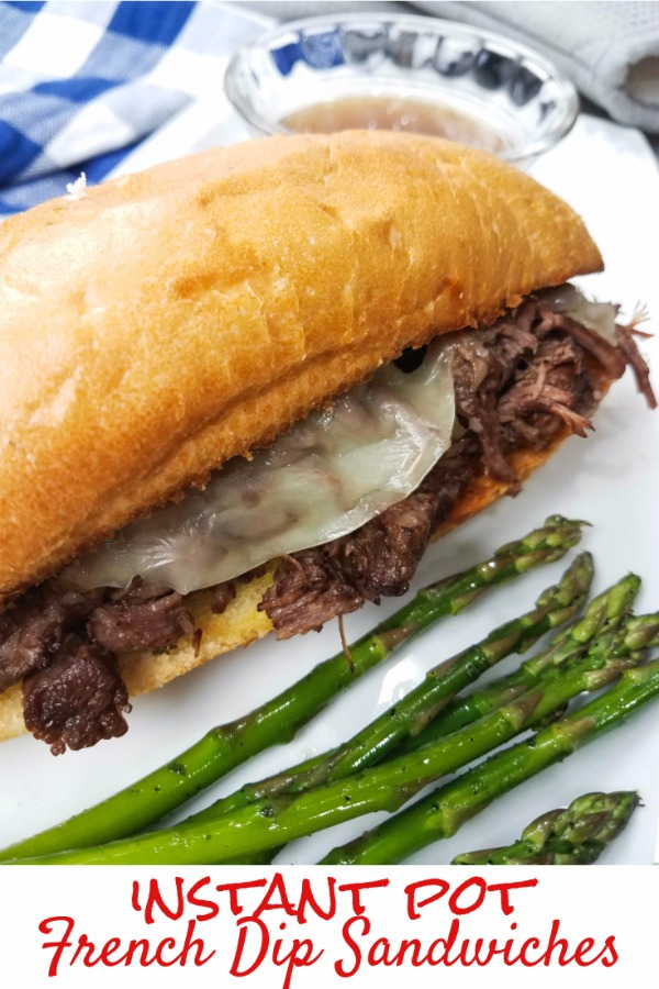 Instant Pot French Dip Sandwiches from This Mama Loves