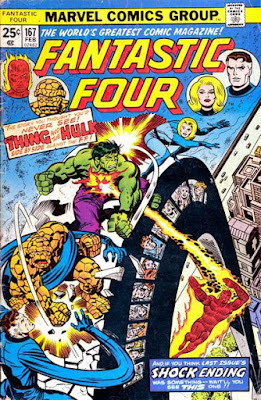 Fantastic Four #167, the Thing and the Hulk team up
