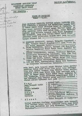 Hasil Otopsi Lengkap 7 Perwira TNI AD Korban G30S/PKI Berdasarkan Visum et Repertum