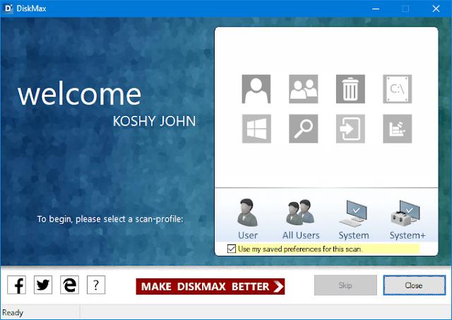 برنامج DiskMax  لتسريع اي لابتوب