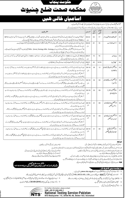 Nutrition Supervisor Jobs in Chiniot